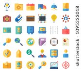 business icons set. icons for... | Shutterstock .eps vector #1095233018