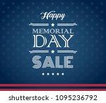 memorial day sale american...   Shutterstock .eps vector #1095236792