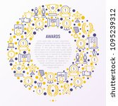 awards concept in circle with... | Shutterstock .eps vector #1095239312
