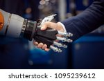 hand of a businessman shaking... | Shutterstock . vector #1095239612