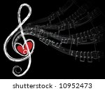 treble love and music notes ...