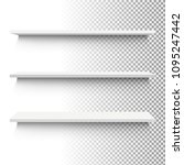 white shelf set  vector...   Shutterstock .eps vector #1095247442