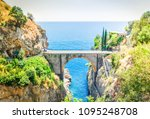 road of amalfi coast  italy | Shutterstock . vector #1095248708