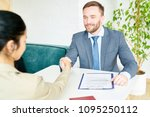 portrait of handsome business... | Shutterstock . vector #1095250112