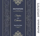 save the date invitation card... | Shutterstock .eps vector #1095257372