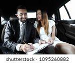 beautiful business woman... | Shutterstock . vector #1095260882