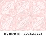 Stock vector sweet pink geometric line circle abstract background seamless pattern vector design 1095263105