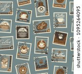 retro postage seamless... | Shutterstock .eps vector #1095264095