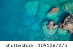 aerial view on the sea.... | Shutterstock . vector #1095267275