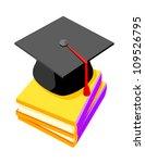 vector icon graduation cap | Shutterstock .eps vector #109526795