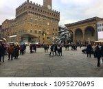 piazza della signoria  florence ... | Shutterstock . vector #1095270695