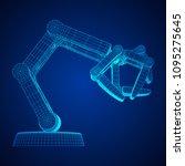 robotic arm manufacture...   Shutterstock .eps vector #1095275645