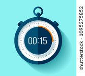 stopwatch icon in flat style ... | Shutterstock .eps vector #1095275852
