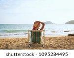 summer beach vacation concept ... | Shutterstock . vector #1095284495