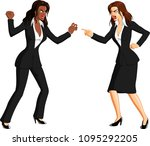 vector illustration of an angry ... | Shutterstock .eps vector #1095292205