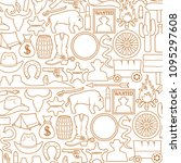 background pattern with wild... | Shutterstock .eps vector #1095297608
