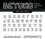 vector of futuristic alphabet... | Shutterstock .eps vector #1095304472