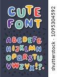 vector cartoon english alphabet ...   Shutterstock .eps vector #1095304592