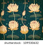 Lotus Background. Floral...