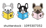 dog vector french bulldog pug... | Shutterstock .eps vector #1095307352