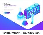 isometric flat science... | Shutterstock .eps vector #1095307406