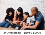 african american parents... | Shutterstock . vector #1095311906