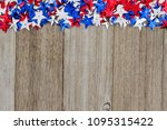 patriotic usa red  white and... | Shutterstock . vector #1095315422