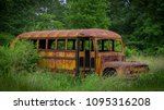 Old Abandoned School Bus Shell...