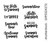 vector hand written lettering... | Shutterstock .eps vector #1095324272