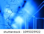science research test tubes... | Shutterstock . vector #1095325922