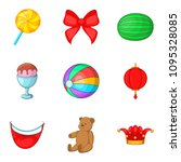unlimited fun icons set.... | Shutterstock . vector #1095328085