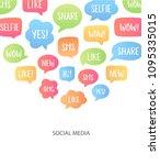 vector illustration with speech ... | Shutterstock .eps vector #1095335015