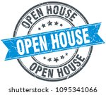 open house round grunge ribbon... | Shutterstock .eps vector #1095341066