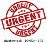 urgent round red grunge stamp | Shutterstock .eps vector #1095344342