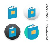 book icon on white background | Shutterstock . vector #1095345266