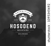 mountains logo design vector... | Shutterstock .eps vector #1095345692