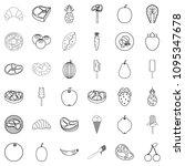 breakfast icons set. outline... | Shutterstock . vector #1095347678