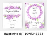 save the date card  wedding... | Shutterstock .eps vector #1095348935