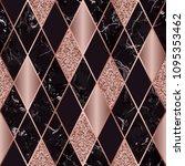 vector marble seamless pattern... | Shutterstock .eps vector #1095353462