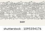 baby banner concept. vector... | Shutterstock .eps vector #1095354176