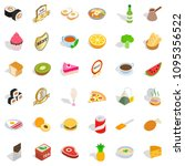 fauna icons set. isometric... | Shutterstock . vector #1095356522