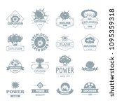 explosion power logo icons set. ... | Shutterstock . vector #1095359318