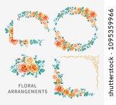 vector set of arrangements with ... | Shutterstock .eps vector #1095359966