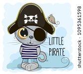 cute cartoon british kitten in... | Shutterstock .eps vector #1095361598