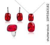 set of fashion jewelry isolated ...   Shutterstock . vector #1095363182