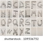 alphabet letters writing on the ... | Shutterstock . vector #109536752