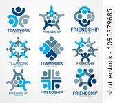 teamwork and friendship... | Shutterstock .eps vector #1095379685
