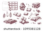 collection of elegant drawings... | Shutterstock .eps vector #1095381128