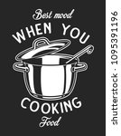vintage cookware monochrome...   Shutterstock .eps vector #1095391196