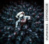 planet of terror   3d... | Shutterstock . vector #1095400238